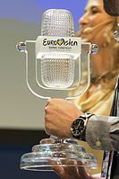 The official Eurovision trophy in 2016