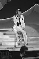 Johnny Logan is the only performer to have won the contest twice, in (pictured) and.