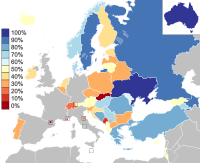 Each country's qualification rates from 2004 to present