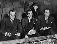 Rodgers and Hammerstein (left and right) and Irving Berlin (center)