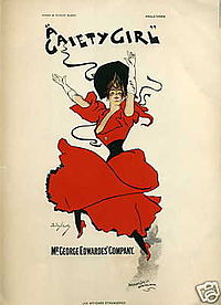 A Gaiety Girl (1893) was one of the first hit musicals
