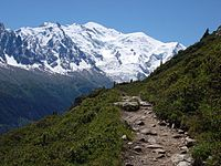 Mont Blanc from the TMB