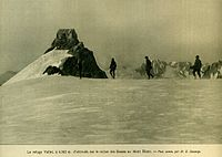 Vallot refuge near Mont Blanc summit, at an altitude of 4,362 m