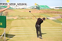 Harrington teeing off at the 2007 Open Championship.