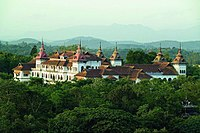 Kowdiar Palace built-in 1915 was the official residence of the Travancore Royal Family.