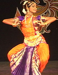 Bharatnatyam, a form of classical Indian dance.