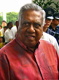 President S.R. Nathan at an Istana open day.