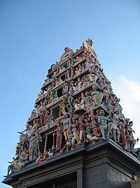 Founded in 1827, Sri Mariamman Temple is Singapore's oldest Hindu temple.