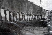 Sepoy mutineers awaiting execution in 1915