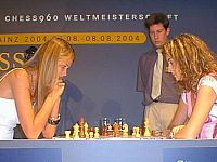 Kass (left) participating in the 2004 Mainz Chess Classic