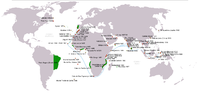 Portuguese discoveries and explorations: first arrival places and dates