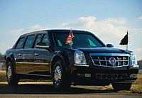 "The presidential limousine - dubbed ""The Beast"""