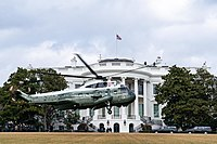 Marine One helicopter, when the president is aboard