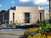 The Central Library at Grand Army Plaza.