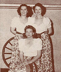 The singing Stafford Sisters in 1941
