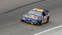 Brian Vickers driving for Red Bull in 2007 at Texas Motor Speedway.
