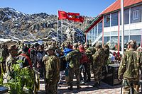 ITBP personnel interacting with civilians in Nathu La