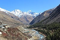 Chitkul Village, as seen from the road to the ITBP checkpost