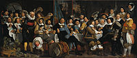 Amsterdam citizens celebrating the Peace of Münster, 30 January 1648. Painting by Bartholomeus van der Helst