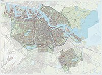 Topographic map of Amsterdam.