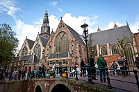 The Oude Kerk was consecrated in 1306 CE.