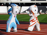 The Olympic Mascots, Mandeville (left) and Wenlock (right)