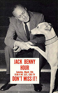 Benny did many television specials after leaving his regularly scheduled show. This is a promotional postcard for one of them, c. 1961.