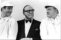 Benny with Danny Thomas (left) and Bob Hope (right) in a 1968 special
