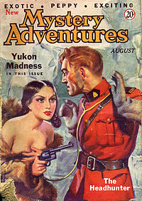 """Hubbard's """"Yukon Madness"""" was originally published in the August 1935 issue of New Mystery Adventures"""