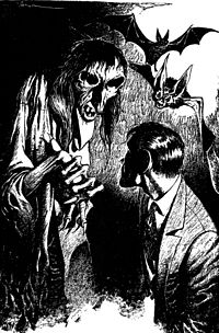 """Illustration by Edd Cartier for Hubbard's story """"Fear"""""""