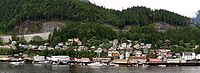 """Ketchikan, Alaska, where Hubbard and his wife were stranded during the """"Alaskan Radio-Experimental Expedition"""""""