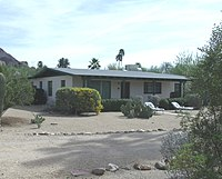 The L. Ron Hubbard House at Camelback in Phoenix, Arizona. The house is listed in the National Register of Historic Places