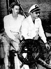 Hubbard and second wife Sara
