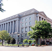 """The Internal Revenue Service building in Washington D.C., one of the targets of Hubbard's """"Snow White Program"""""""