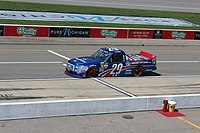 Reddick's No. 29 F-150, sporting a special paint scheme for the 2016 Careers for Veterans 200 at Michigan International Speedway.