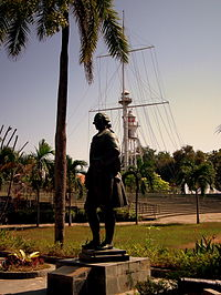 Statue of Francis Light in the Fort Cornwallis of Penang, the first British colony in what was to become Malaysia