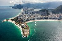 Fort Copacabana hosted the cycling road race (start and finish), marathon swimming and triathlon events.