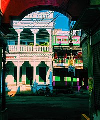 The lanes of Varanasi are bathed in a plethora of colours.