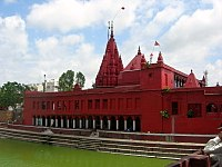 """The 18th century Durga Kund Temple, also known as the """"Monkey temple""""."""