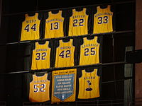 List of National Basketball Association retired numbers
