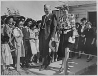 Eleanor Roosevelt at the Gila River relocation center, April 23, 1943
