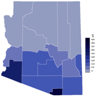 Extent of the Spanish language in the state of Arizona