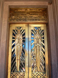 Art Deco doors of the Cochise County Courthouse in Bisbee