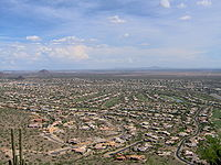 View of suburban development in Scottsdale, 2006