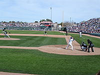 A spring training game between the Cubs and White Sox at HoHoKam Park