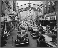 Saturday afternoon street scene, Welch, McDowell County, 1946.