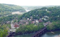 Harpers Ferry (pictured here in 2005) changed hands a dozen times during the American Civil War, and in the end was annexed by West Virginia.