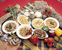 Dishes typical of Louisiana Creole cuisine