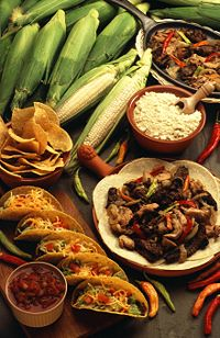 Adaptation of Mexican food tailored for the mainstream American market usually is different from Mexican food typically served in Mexico.