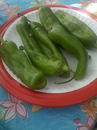 New Mexico green chile is a staple of New Mexican cuisine.